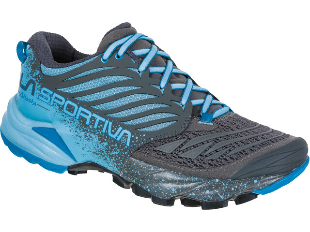 La Sportiva Akasha Running Shoes Women carbon/pacific blue